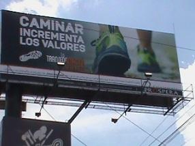 billboard in Guat about walk